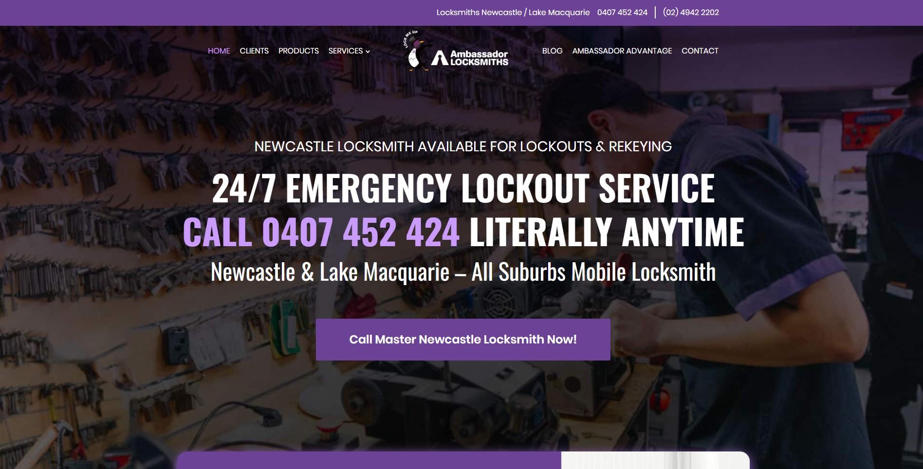 Ambassador Locksmiths Website Design & SEO Northern Rivers NSW - JezNorthWeb