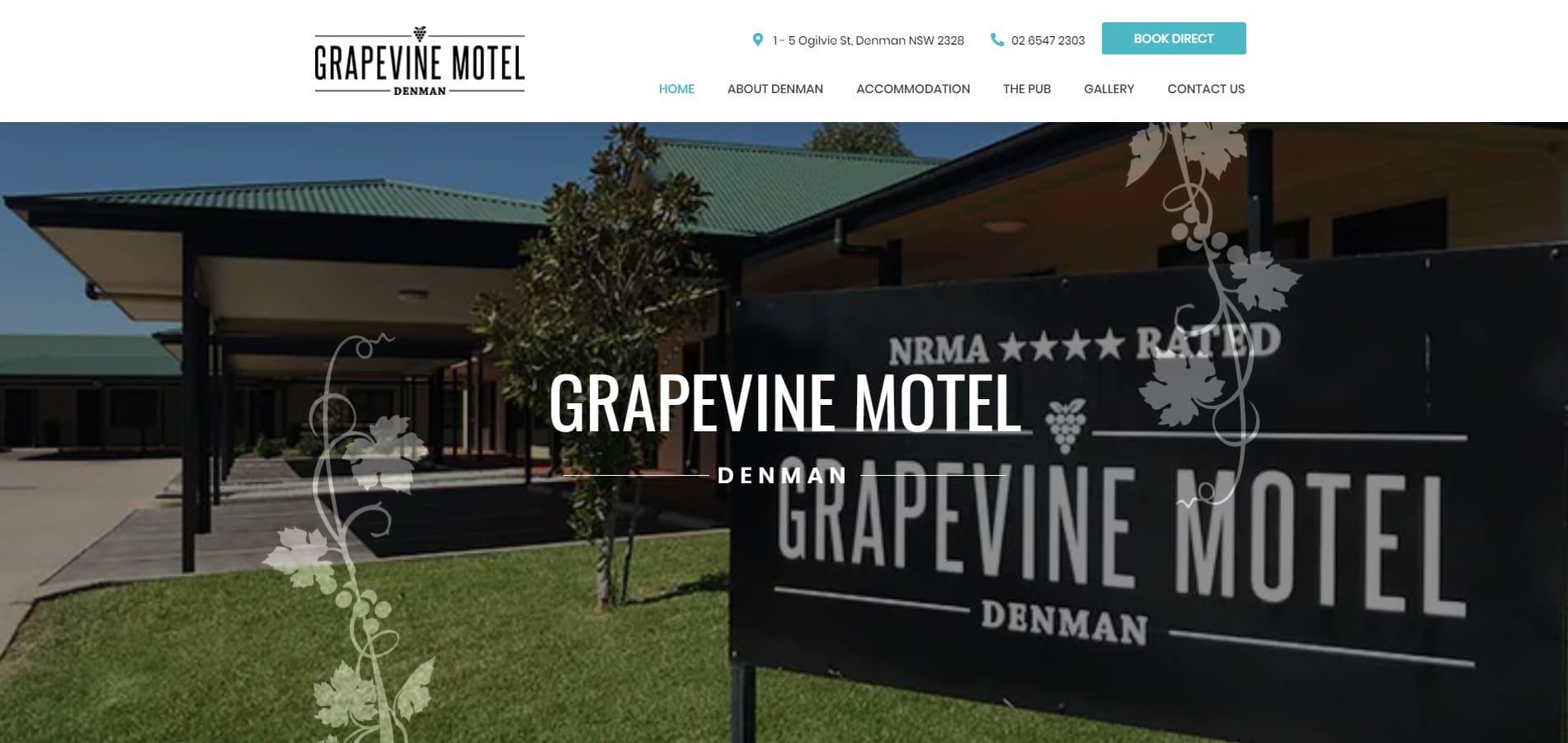 Grapevine Motel Denman Website Design & SEO Northern Rivers NSW - JezNorthWeb