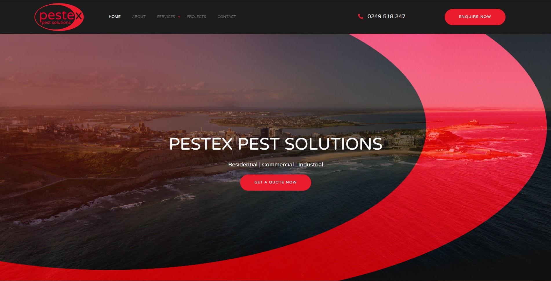 Pestex Pest Solutions Website Design & SEO Northern Rivers NSW - JezNorthWeb