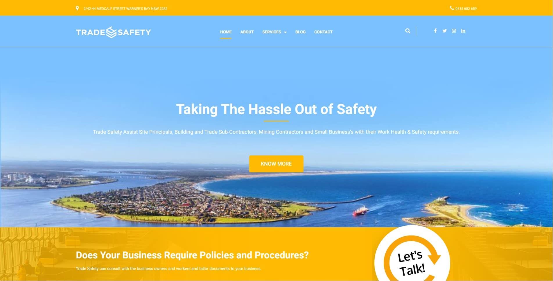 Trade Safety Website Design & SEO Northern Rivers NSW - JezNorthWeb