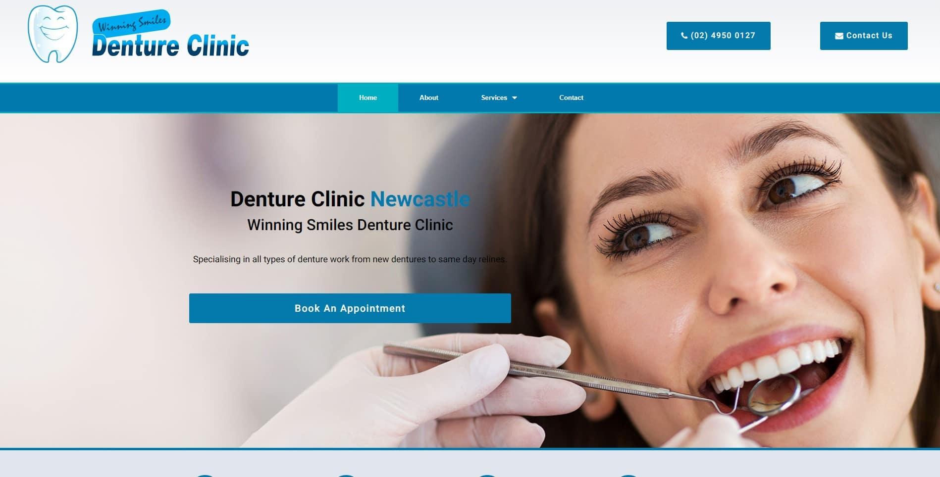 Winning Smiles Denture Clinic Website Design & SEO Northern Rivers NSW - JezNorthWeb