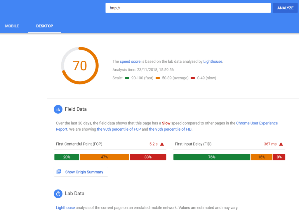PageSpeed Insights: improve your web speed test